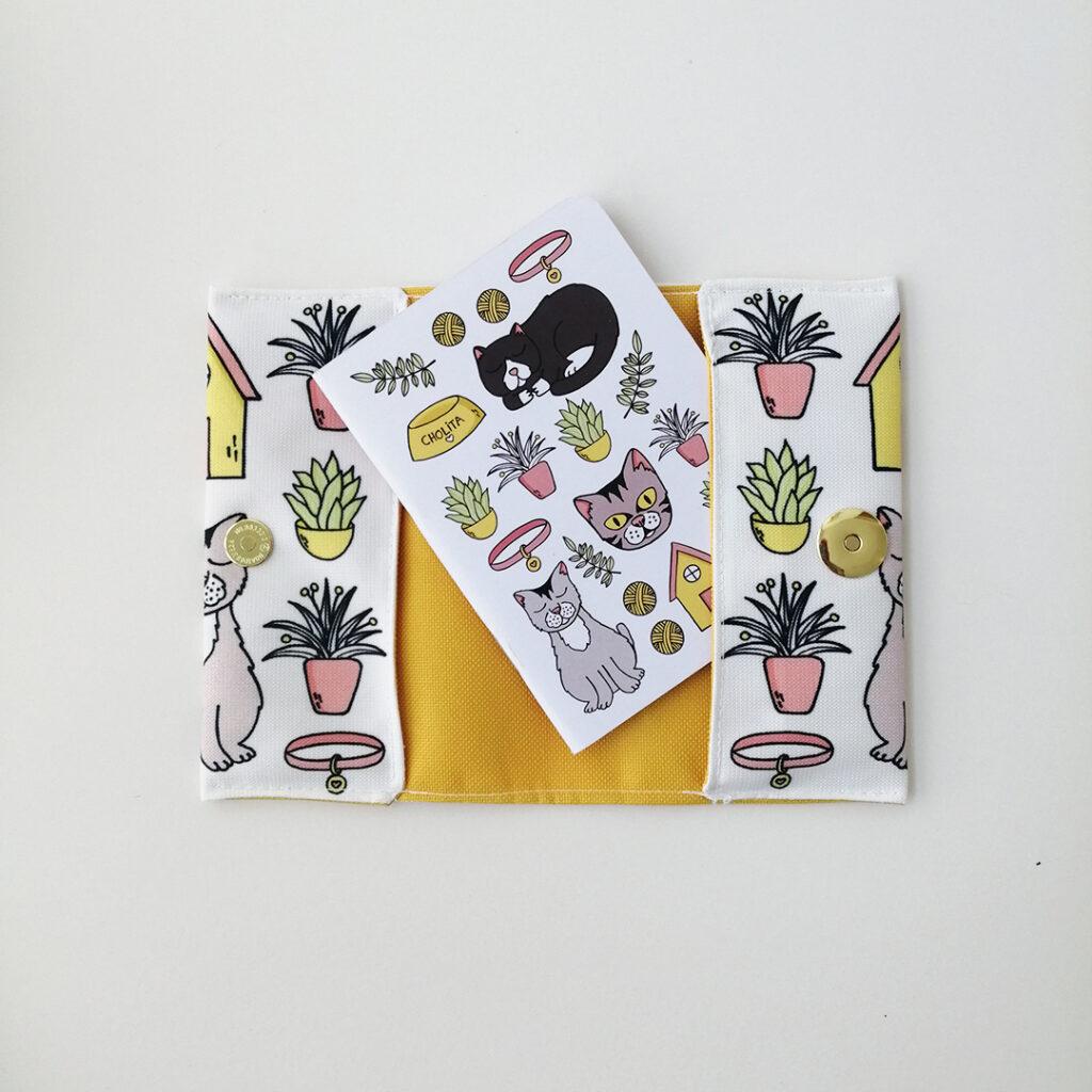 Portapasaporte Gatos & Plantas